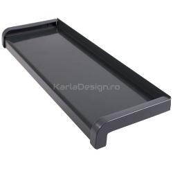 Glaf aluminiu gri antracit 16,5 cm