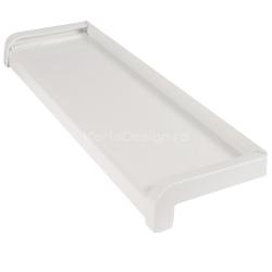 Glaf Aluminiu Alb 7 cm