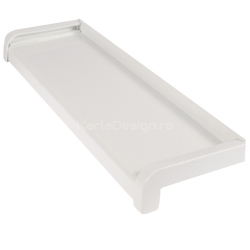Glaf Aluminiu Alb 19,5 cm